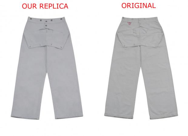 Kriegsmarine White Cotton EM trousers Klapphose