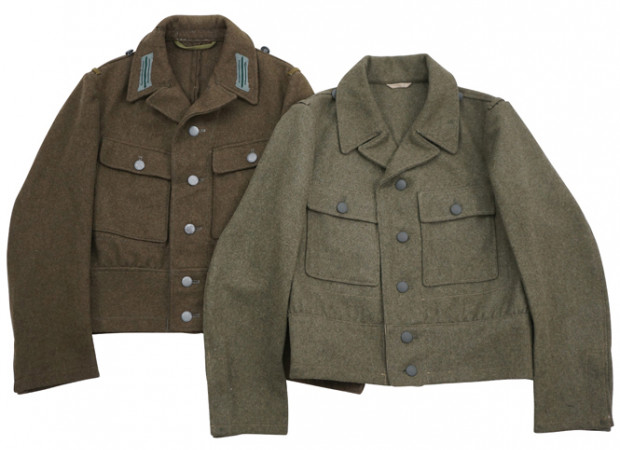 M44 Heer & SS EM Brown wool tunic Feldbluse